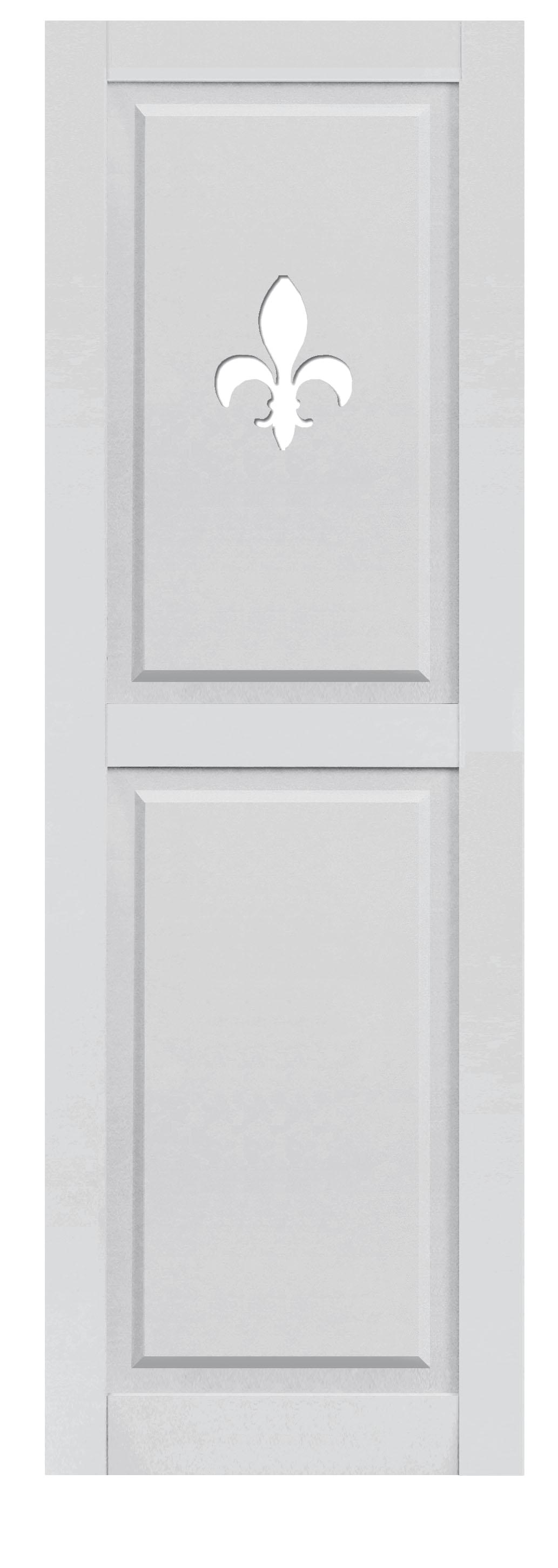 Composite Paneled with Fleur De Lis Cutout