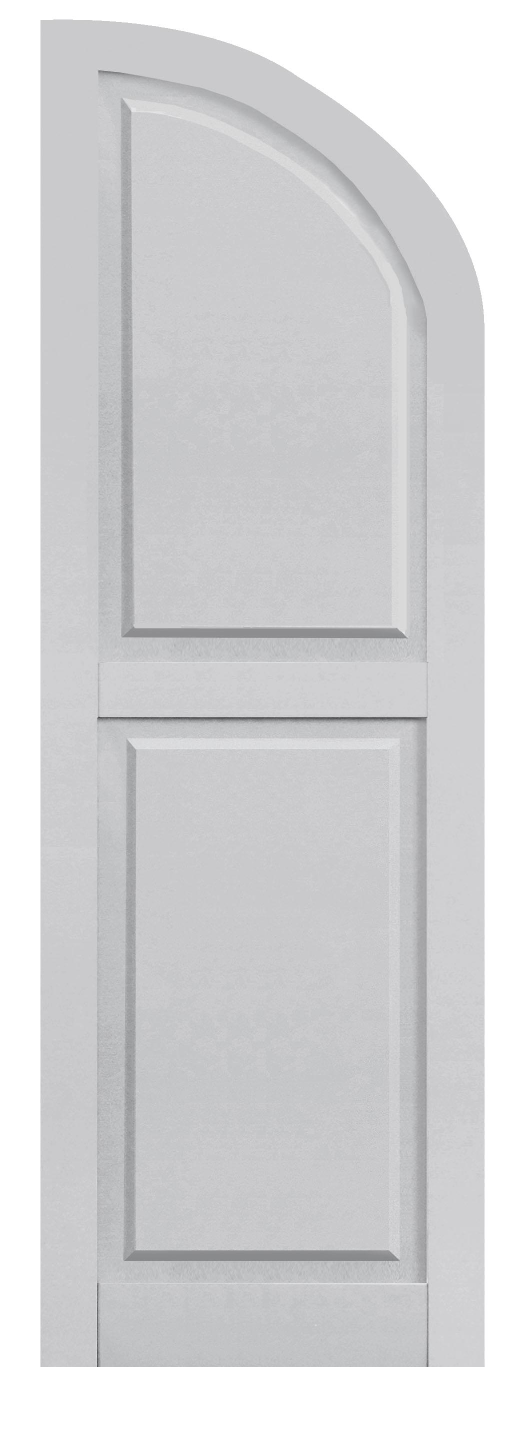Composite Paneled Quarter Round Arch Top