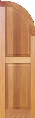 DesignLine Paneled Quarter Round Arch Top