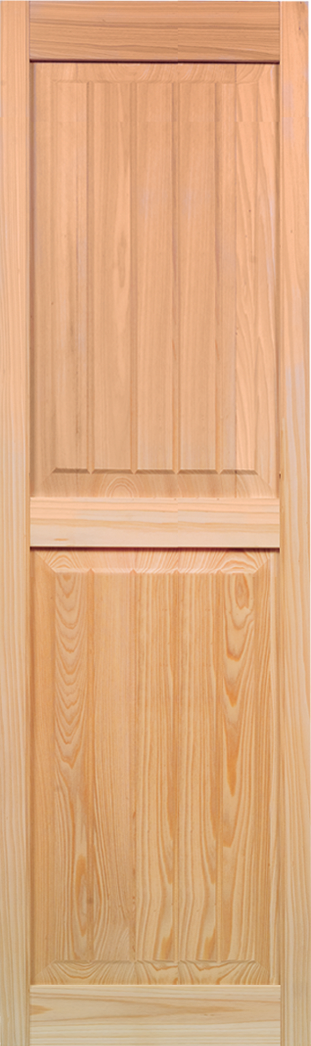 Interior Plantation Raised Panel with V-Groove